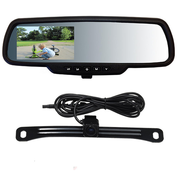 """Back up Video Mirror TD-CTMD43 4.3"""" Capacitive Touch Screen with Backup Camera"""