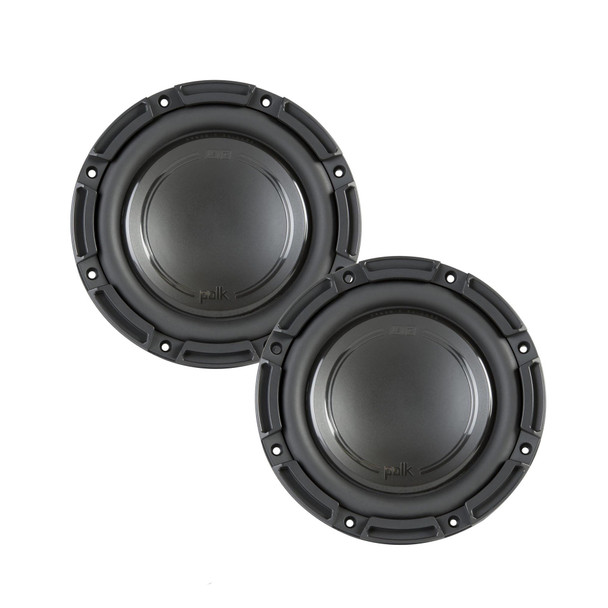 "Polk Audio -Two DB842SVC 8"" Single 4-Ohm Voice Coil Subwoofers, Bundle - Marine Certified"