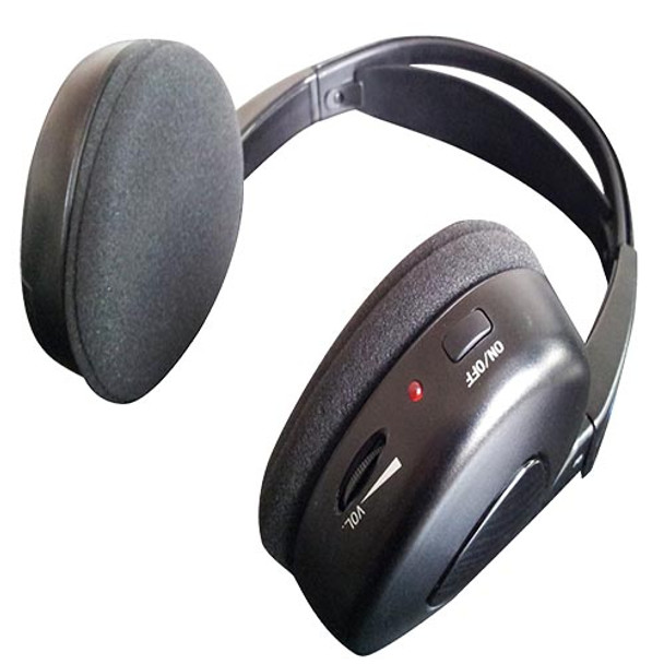 Audiovox MTGHP1CA SINGLE Channel Fold-Flat Headphone in Clamshell Packaging Movies 2 Go Branded