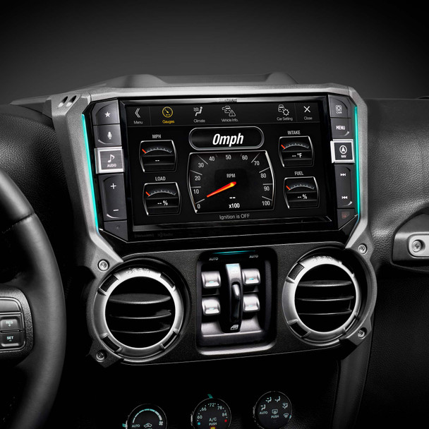 Alpine X409-WRA-JK 9-Inch Weather-Resistant Mech-less Navigation System with Off-Road Mode for 2011-2018  Jeep® Wrangler