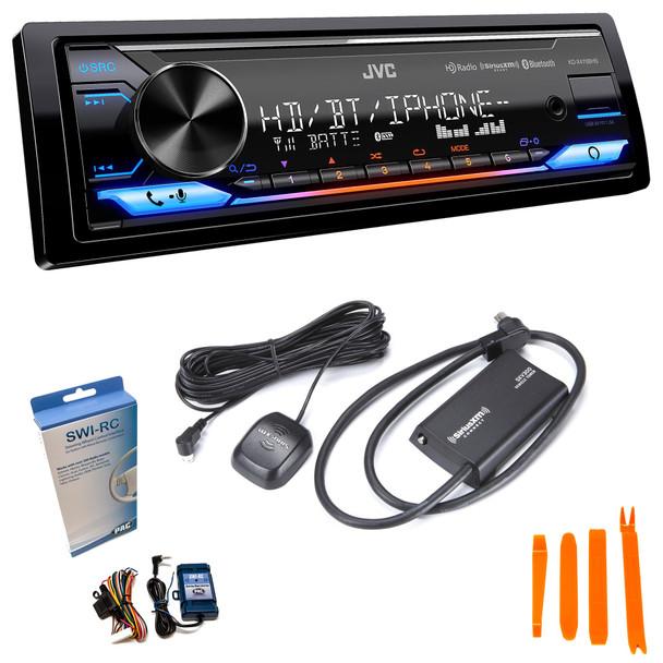 JVC KD-X470BHS Digital Media Receiver BT, HD Radio compatible with SXV300 SiriusXM Tuner,Amazon Alexa and SWI-RC adapter