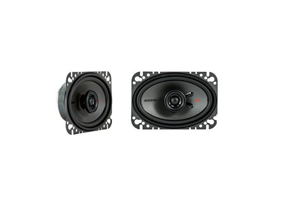 "Kicker KSC4604 KSC460 4x6"" Coax Speakers with .5"" tweeters 4-Ohm (Pair)"