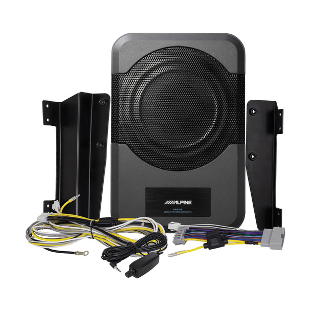 Alpine PWE-S8-WRA 8-inch Compact Powered Subwoofer System for 2011-2018 JK 4-door Jeep Wrangler