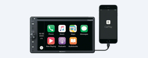 Sony XAV-AX200 AM/FM/CD Receiver with Bluetooth, compatible with CarPlay, Android Auto, & includes Sirius XM Tuner