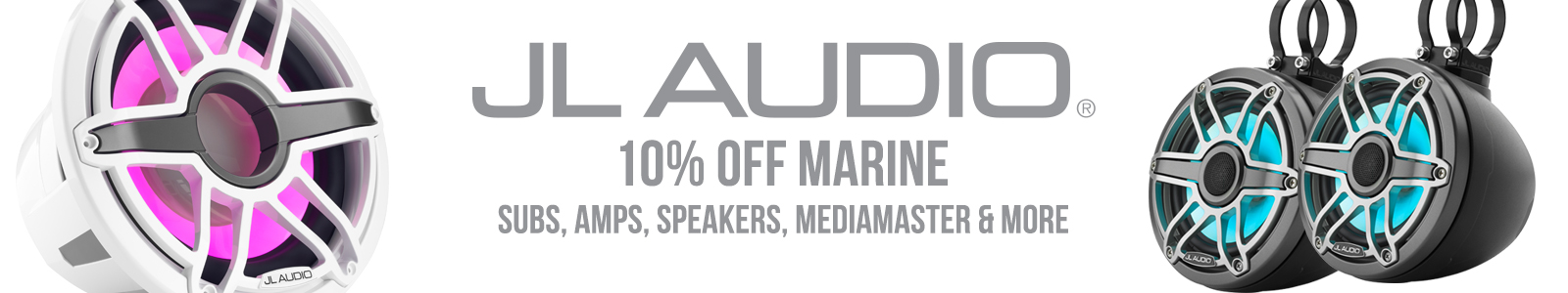 JL Audio Marine Sale - 10% Off Subs, Amps, Speakers and More!