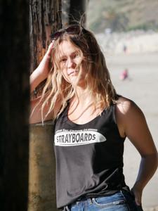 Women's Stray Boards tank top - black