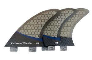 Rainbow CIS Pro Core Surfboard Tri Fin Set - FCS- Smoke