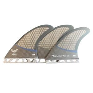 Rainbow CIM Pro Core Surfboard ThrusterFin Set - Future- Carbon/Nvy