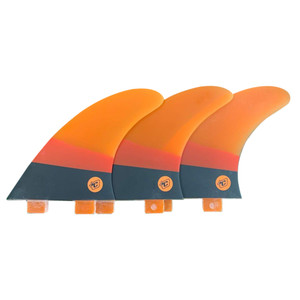 "Creatures ""Arc Series"" Thruster Surfboard Fins- FCS- Orange/BLK"