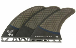 Rainbow CIS Pro Core Surfboard Tri Fin Set - Futures Base - Black/Navy