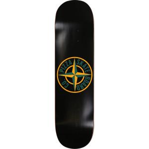 Pizza Stone Logo Black/Yellow Skateboard Deck 8.25 x 32 - Free Grip Tape
