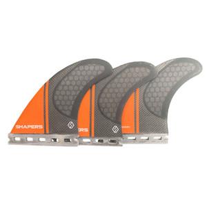 Shapers Core Lite Surfboard Fins M/L- FUTURE- Black/Orange
