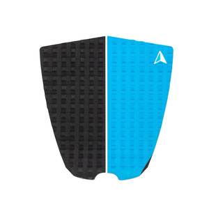 Roam 2 Piece Surfboard Traction Pad-Black/Blue