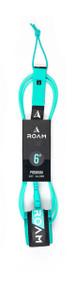 Roam Surf 6' Premium Surfboard Leash-Sea Green