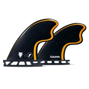 Futures Tomo Quad Surfboard Fin Set- Black/Orange