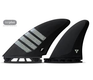 Futures Alpha Controller Split Keel Quad Surfboard Fin Set- Black