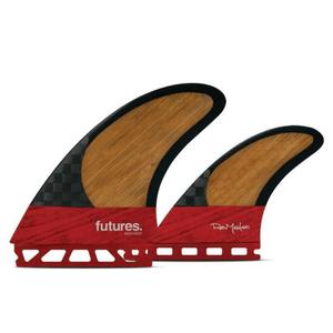 Futures Machado Twin+1 Surfboard Fin Set- Red