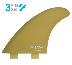 True Ames Tyler Warren FCS Thruster Surfboard Fin Set- L -Pickle