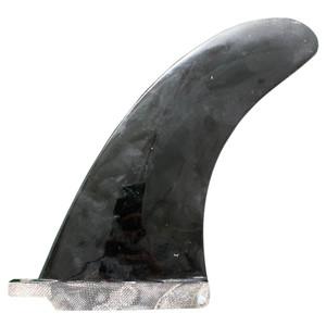 """Fibre Glass Fin Co. 7.0"""" Used Longboard Surfboard Single Fin-Black"""