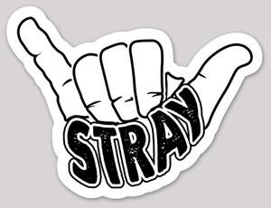 Stray Boards Shaka Die Cut Sticker