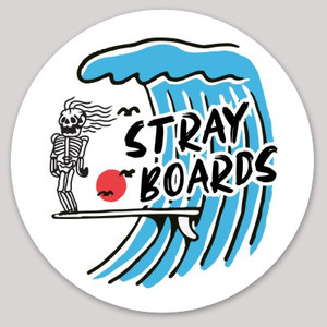 Stray Boards Skeleton Freak Circle Sticker