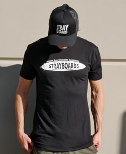 Men's Stray Boards Black T-Shirt