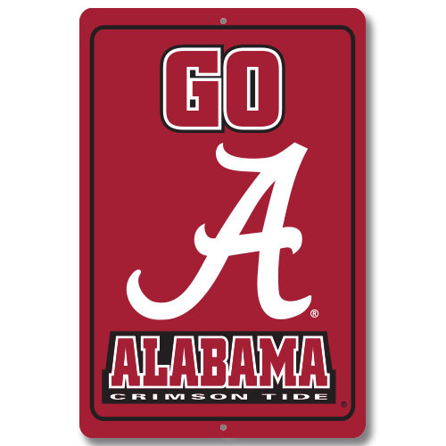 "Alabama 12"" x 18"" Metal Sign"