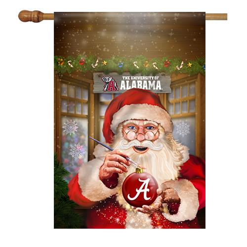 Alabama Santa with Ornament House Flag