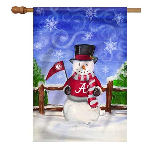 Alabama Snowman House Flag
