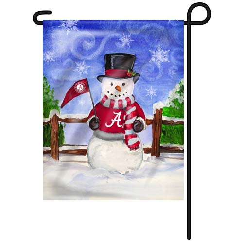 Alabama Snowman Garden Flag