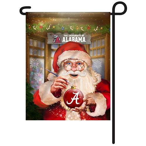 Alabama Santa with Ornament Garden Flag