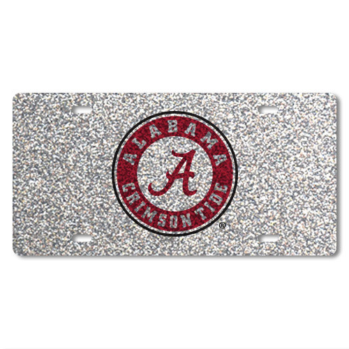 Alabama Glitter License Plate