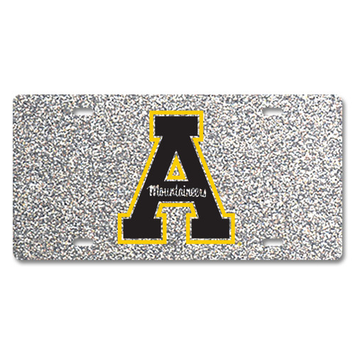 Appalachian State Glitter License Plate