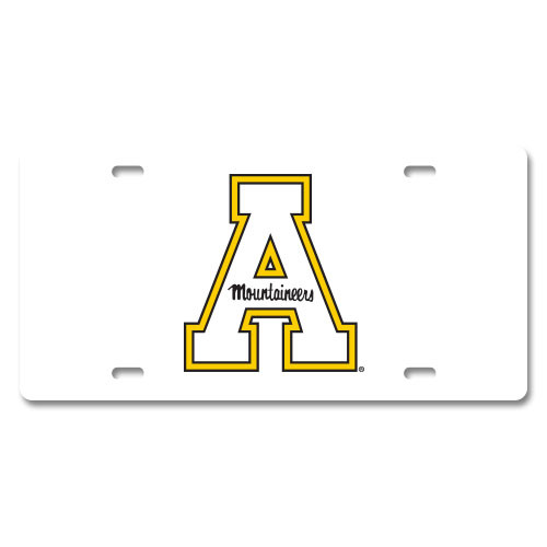 Appalachian State Plastic License Plate