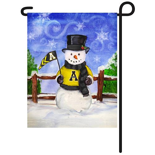 Appalachian State Snowman Garden Flag