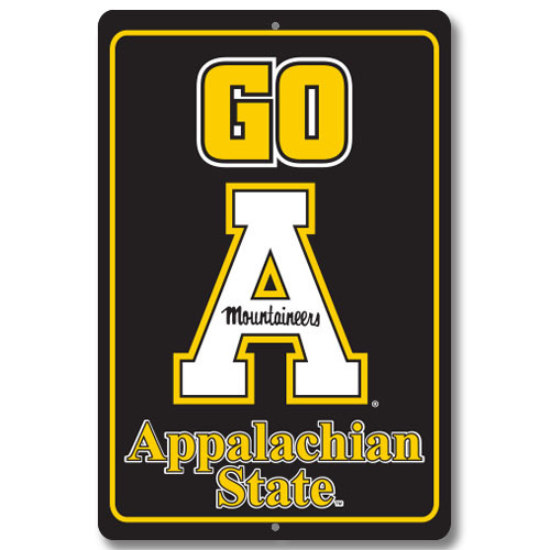 "Appalachian State 12"" x 18"" Metal Sign"