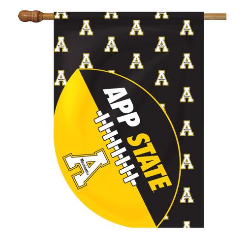 Appalachian State Sports Cut House Flag