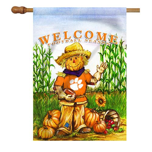 Clemson Scarecrow House Flag