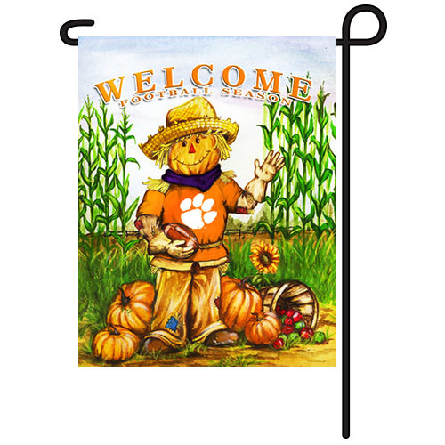 Clemson Scarecrow Garden Flag