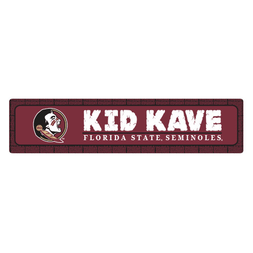 "Florida State 4""x18"" Metal Sign"