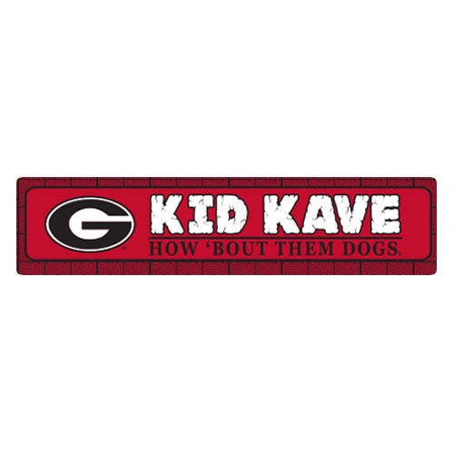 "Georgia 4""x18"" Metal Sign"