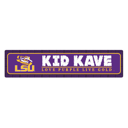 "LSU 4""x18"" Metal Sign"