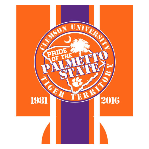 Clemson Can Hugger - Palmetto Pride