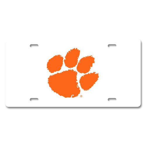 Clemson Plastic License Plate
