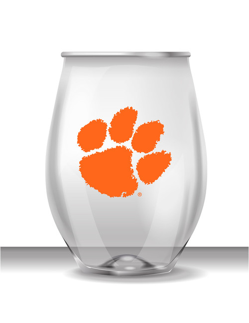 Clemson 16 oz Stemless Plastic Cup