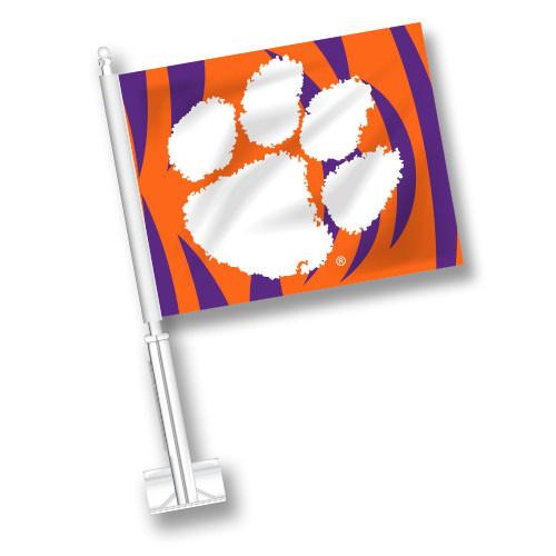 Clemson Car Flag - Tiger Stripes