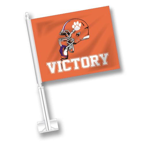 Clemson Car Flag - Victory