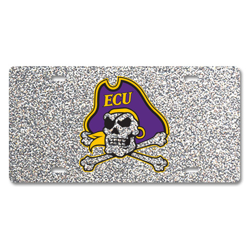 East Carolina Glitter License Plate