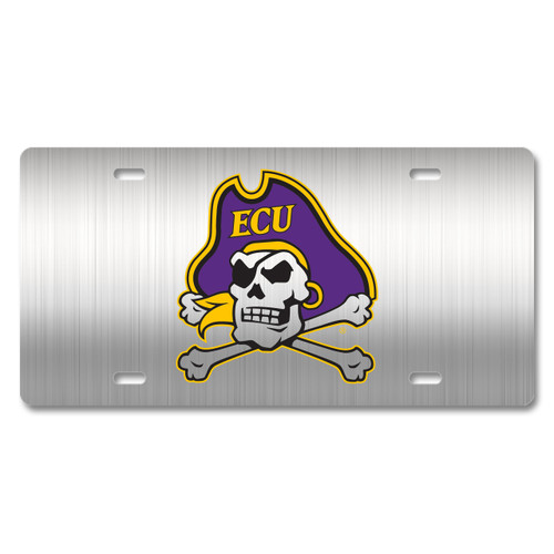 East Carolina Metal License Plate
