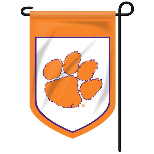 Clemson Shield Garden Flag